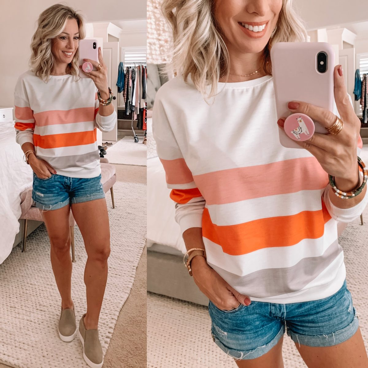 Amazon Striped Long Sleeve Top