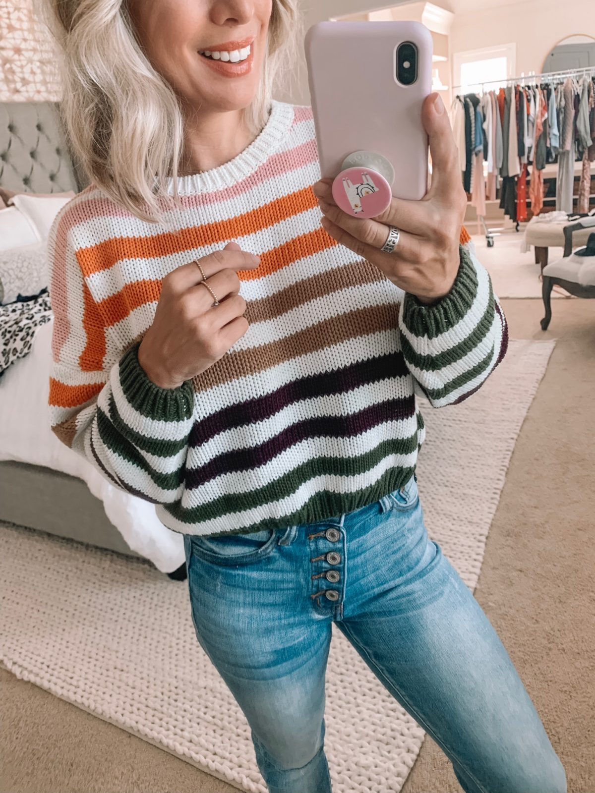 Colorful Striped Sweater