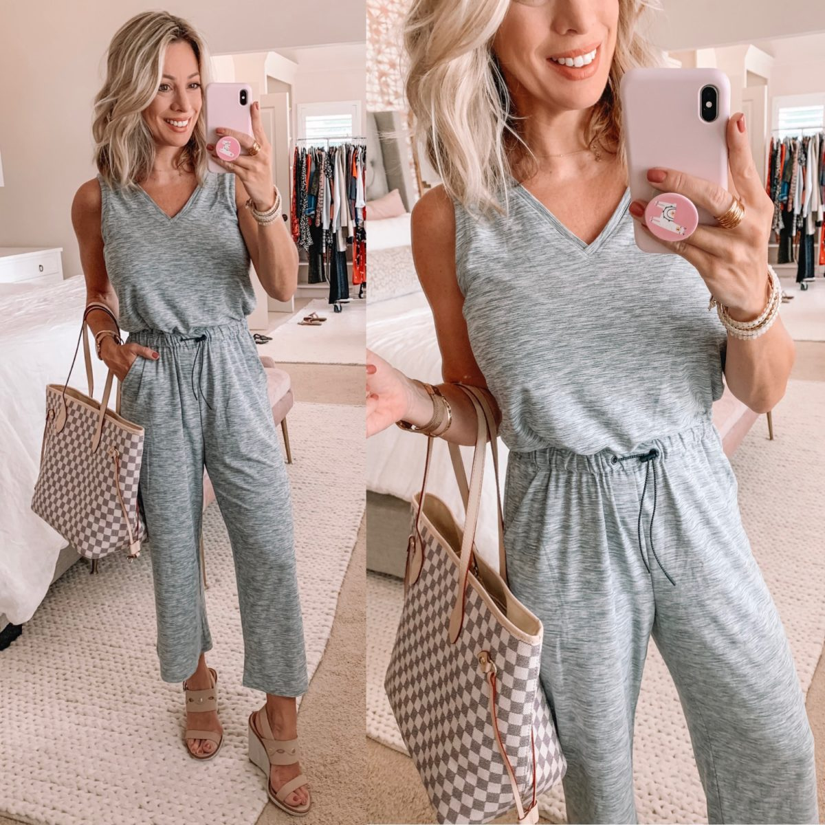 Old Navy Grey Jumpsuit