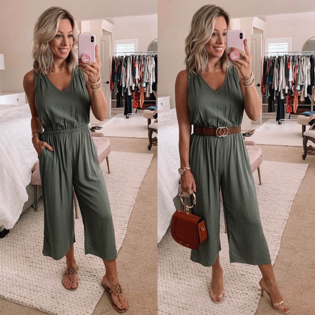 Old Navy Green Olive Jumpsuit