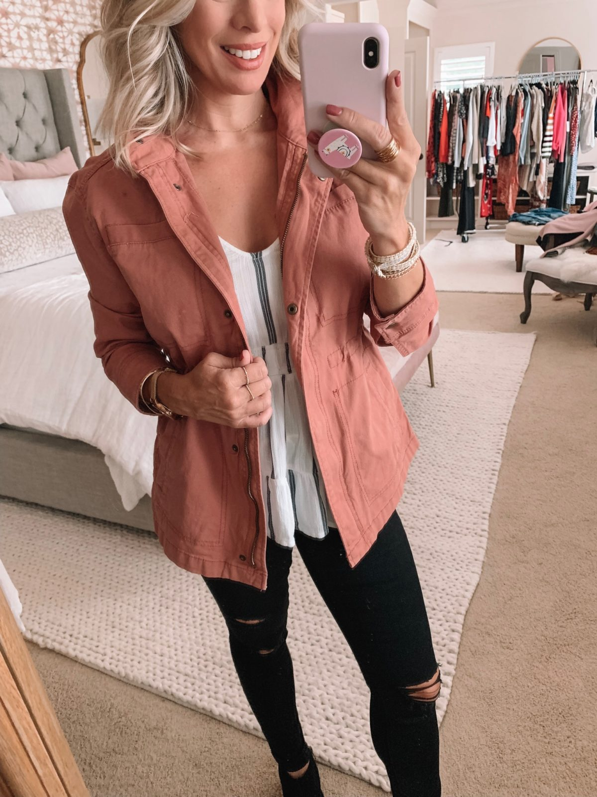 Old Navy Pink Utility Jacket