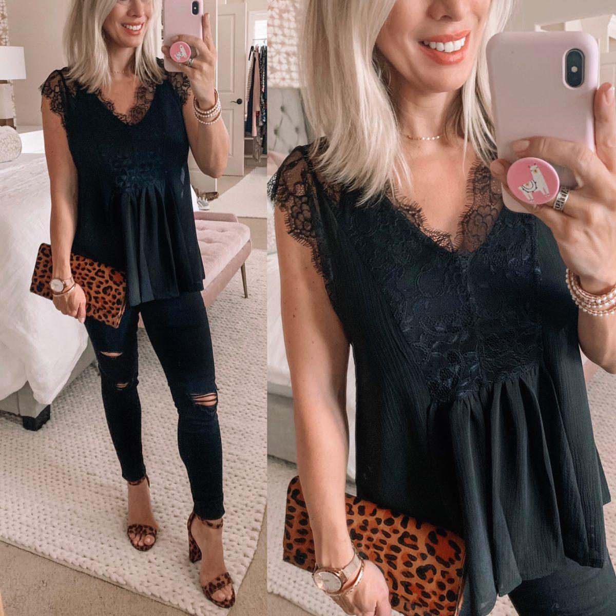 Amazon Black Lace Tank