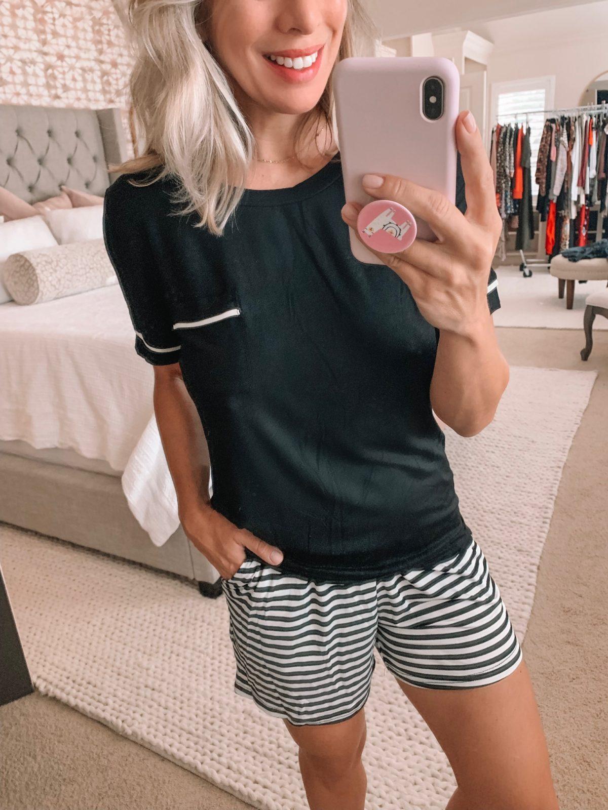 short pajama set from Amazon