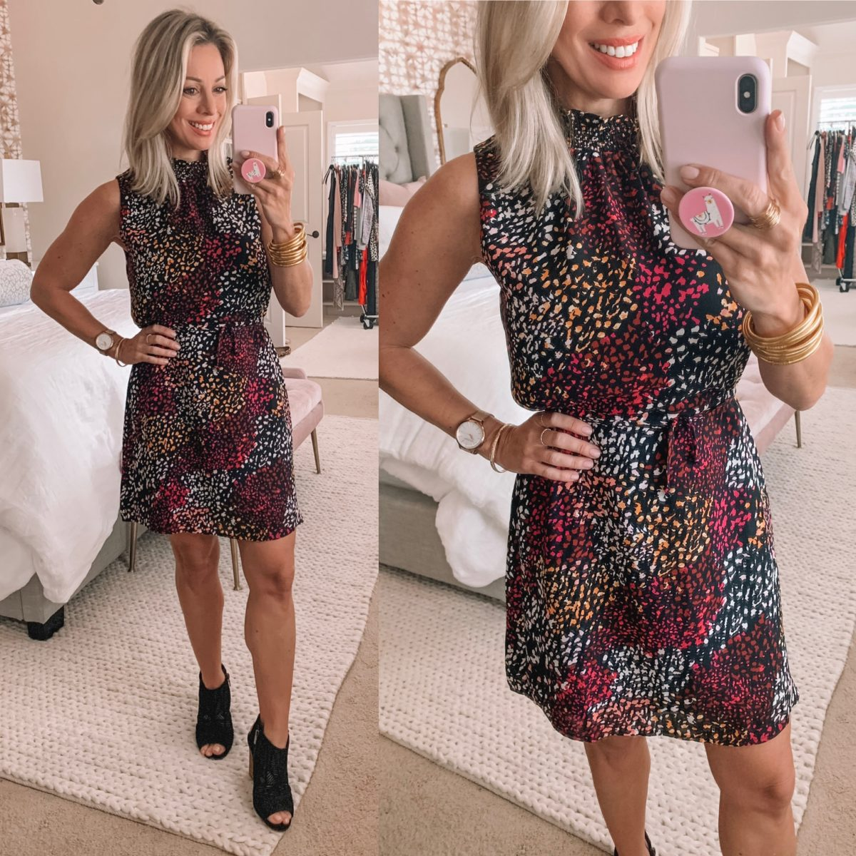 Colorful Animal Print Dress