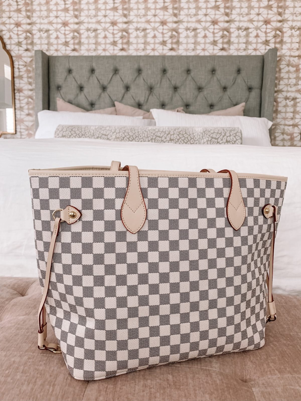 Amazon Checkered Tote Bag