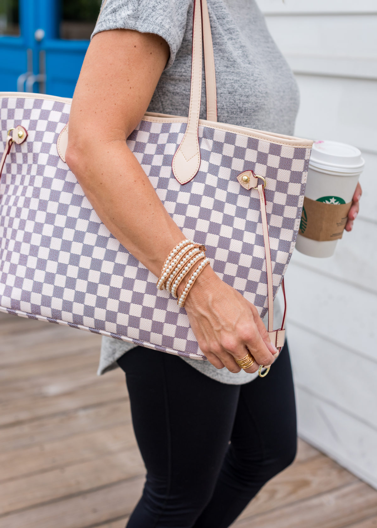 Amazon Checkered Tote