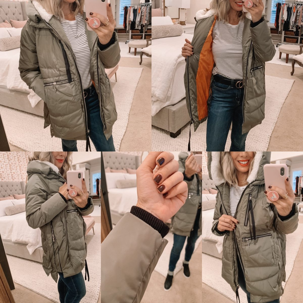 Amazon Prime Fashion- Puffer Coat and Jeans