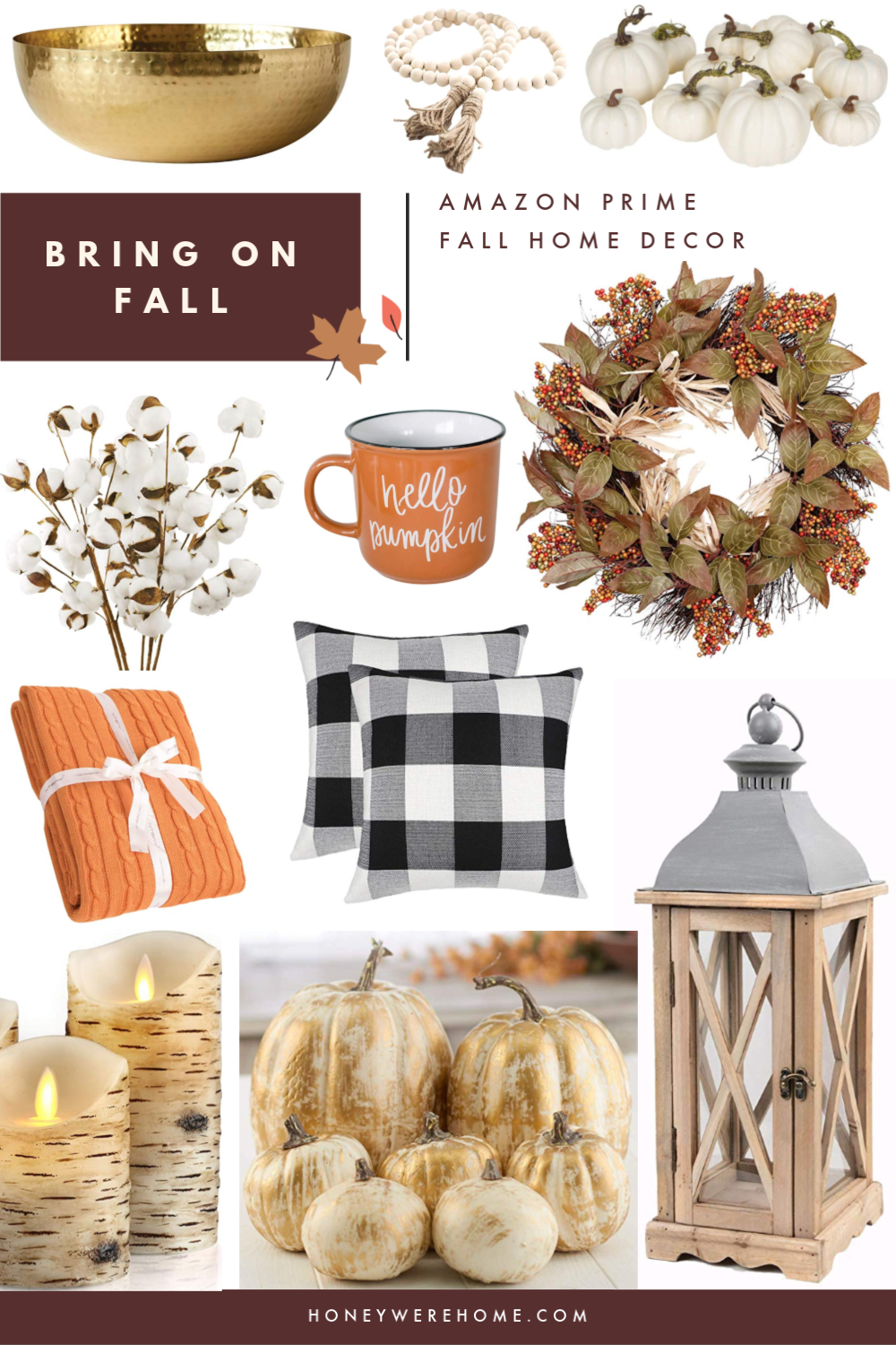 Decorating for Fall with Amazon Prime | Honey We're Home