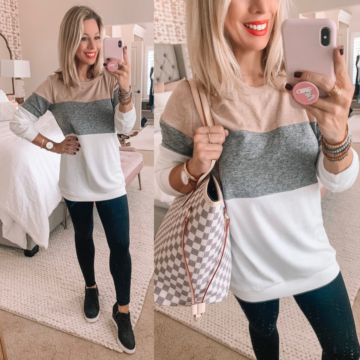 Amazon Color Block Sweater