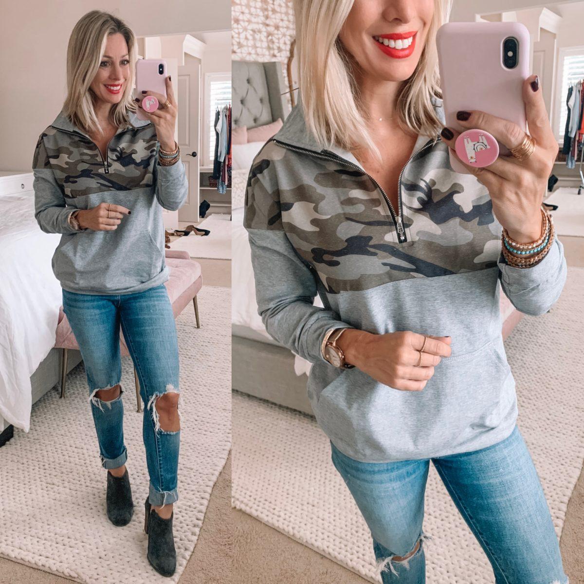 Amazon Camo Pullover