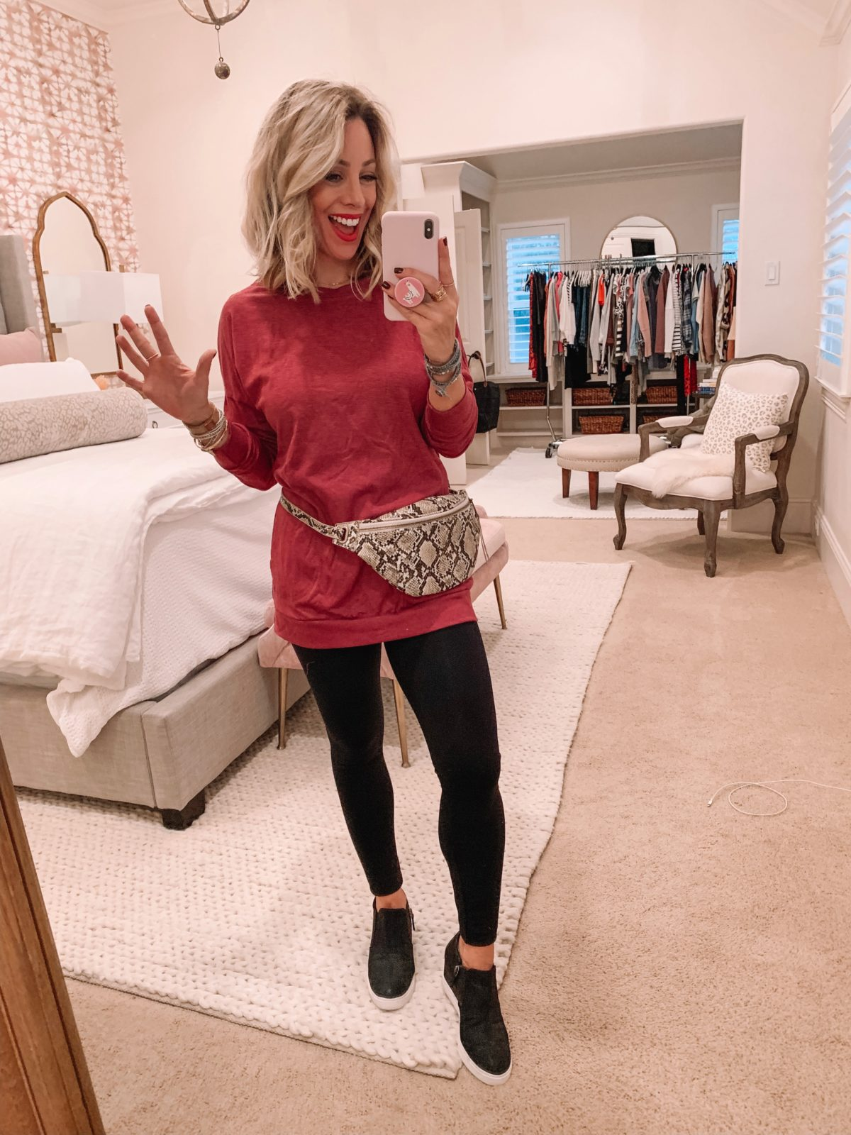 Amazon fashion haul, long sleeve top and leggings