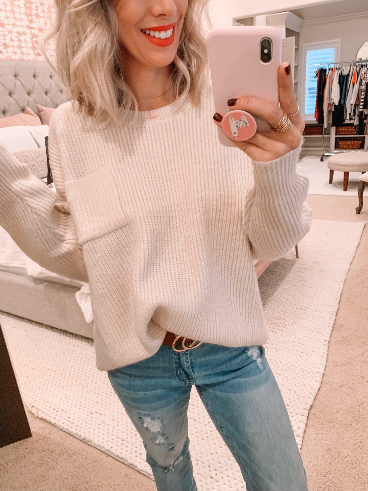 Amazon Prime Fashion-Beige Sweater