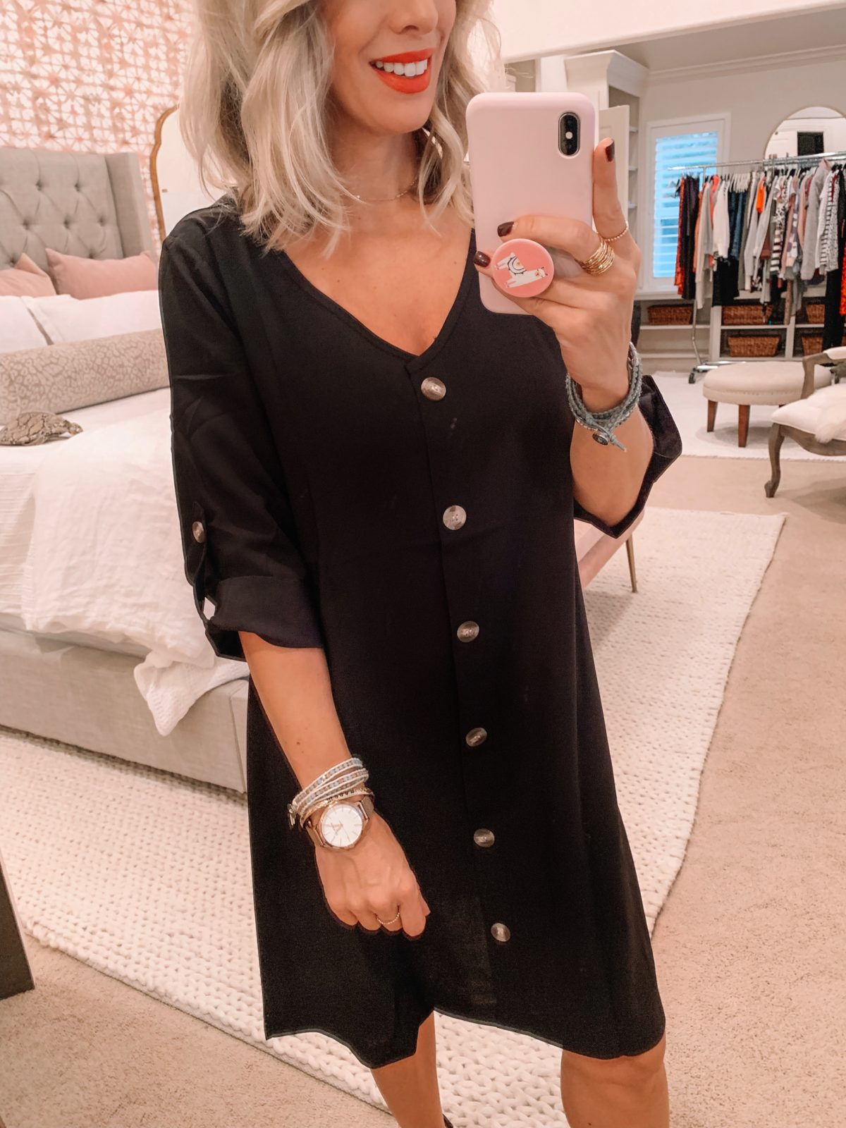 Amazon fashion haul, button down dress