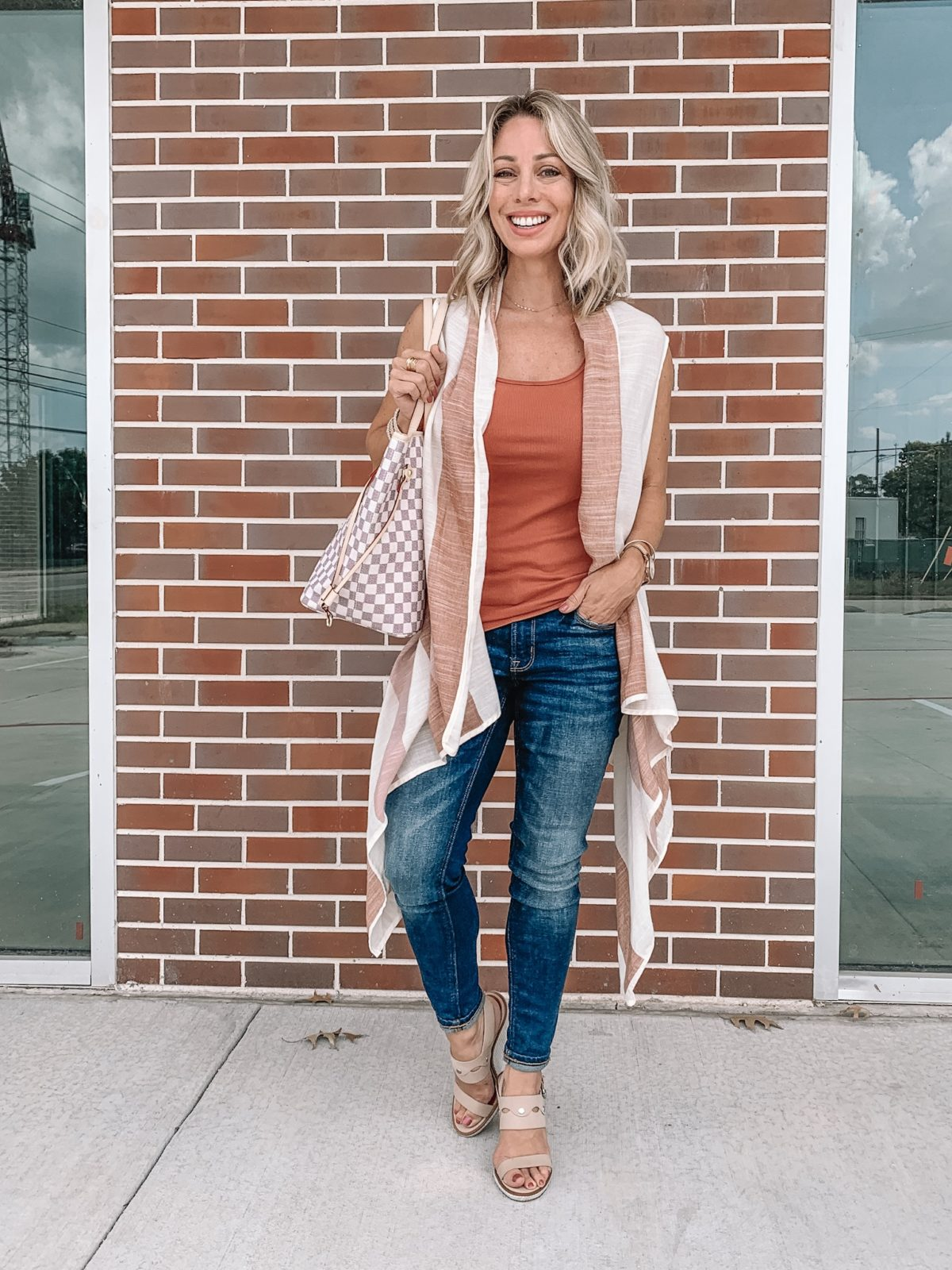 Kimono with Tank and Jeans