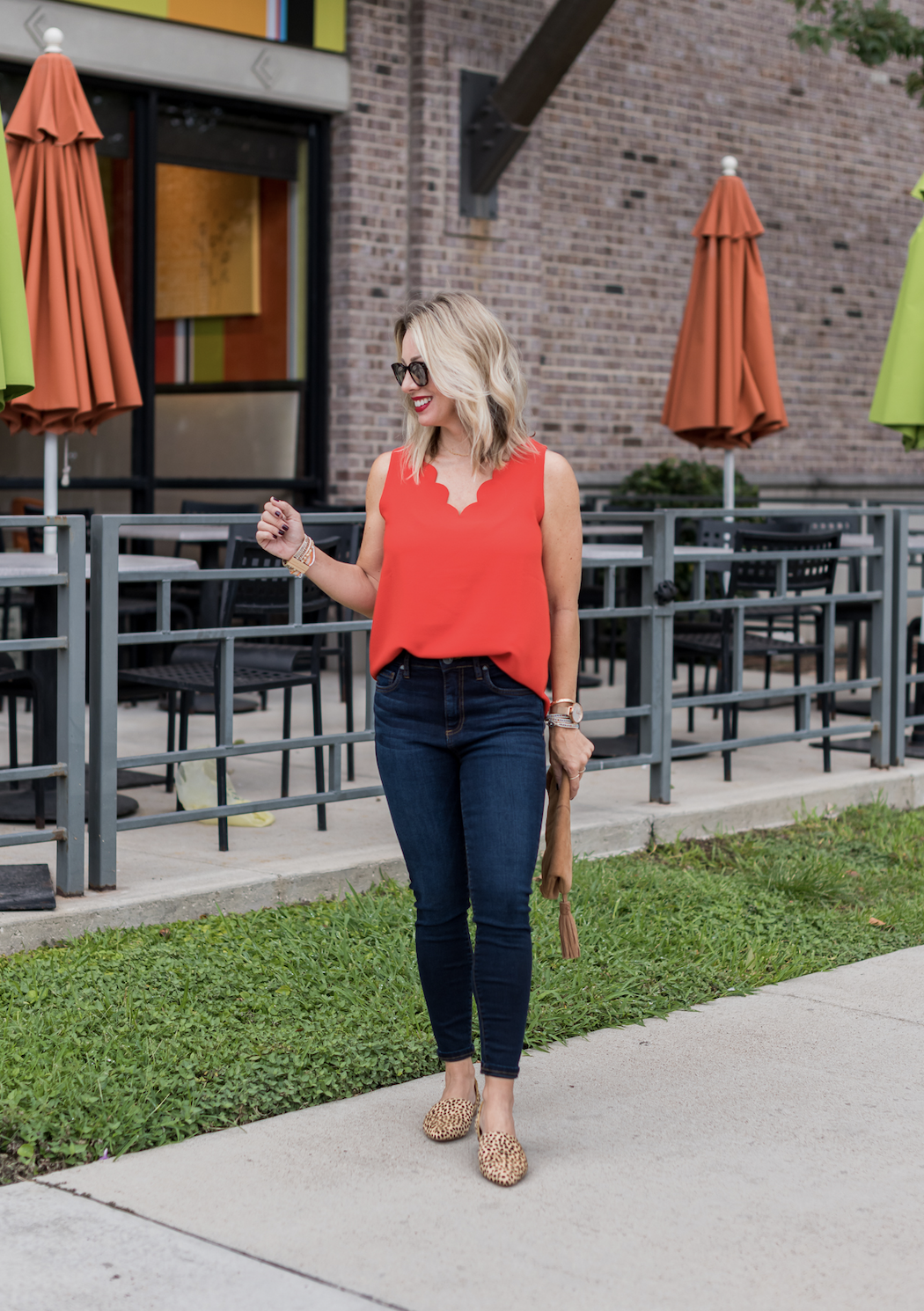 Scalloped Top With Jeans