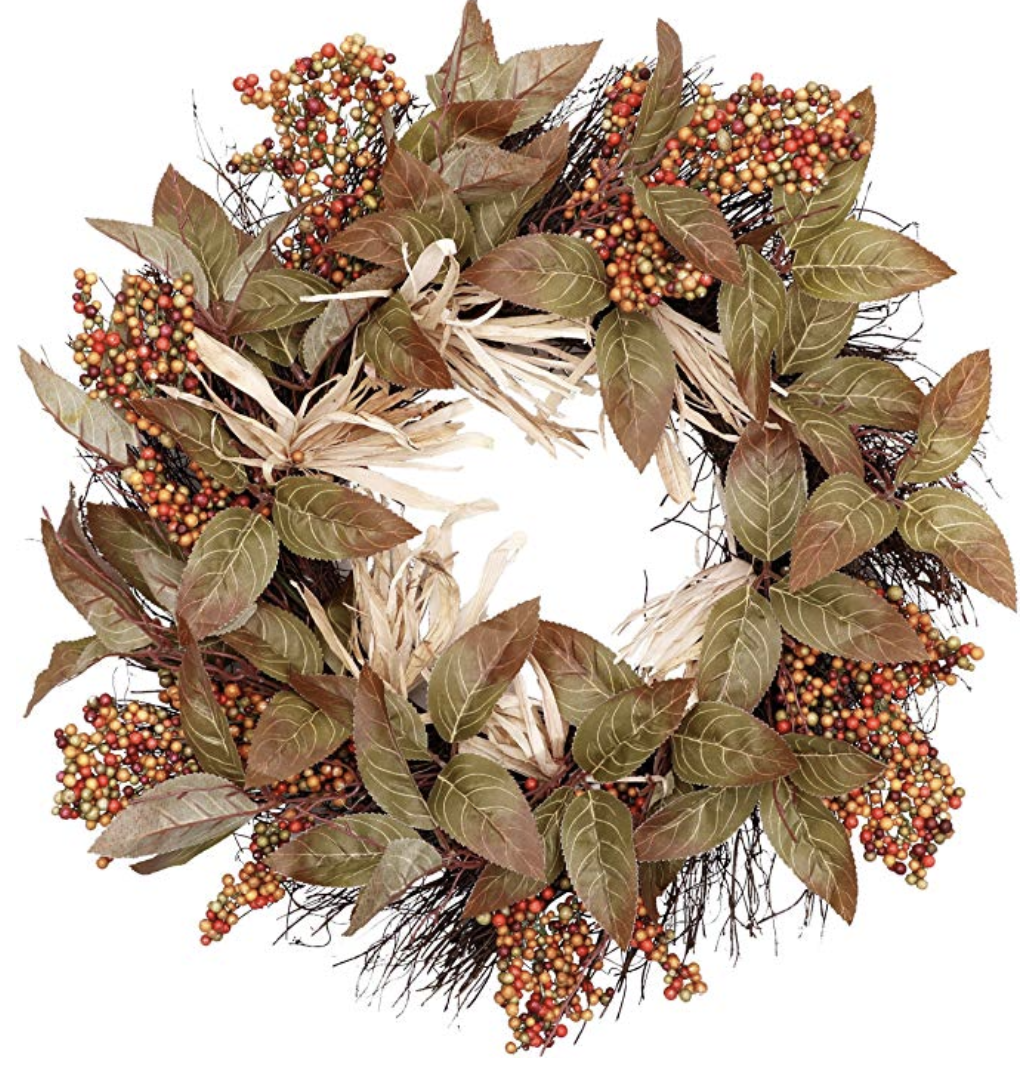 Amazon Fall Decorating - front door wreath