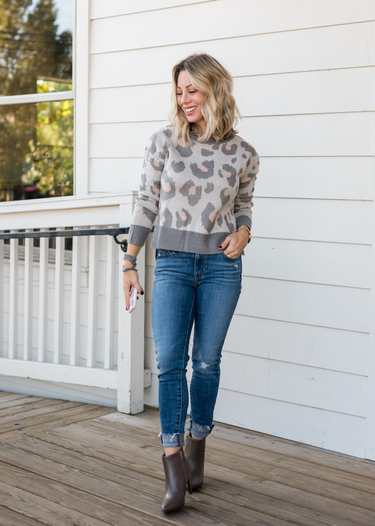 JCPenney Sweater, Jeans and Booties