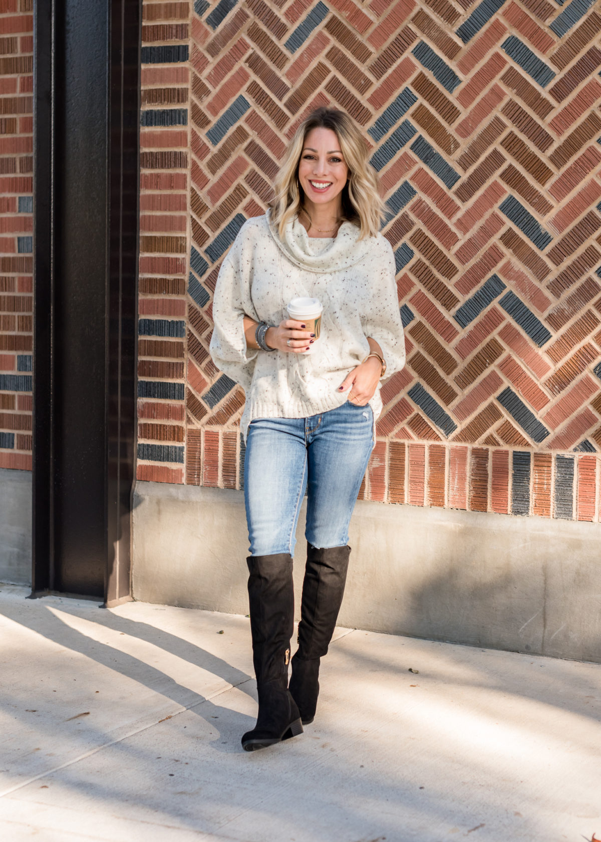 JCPenney Sweater, Jeans and Boots