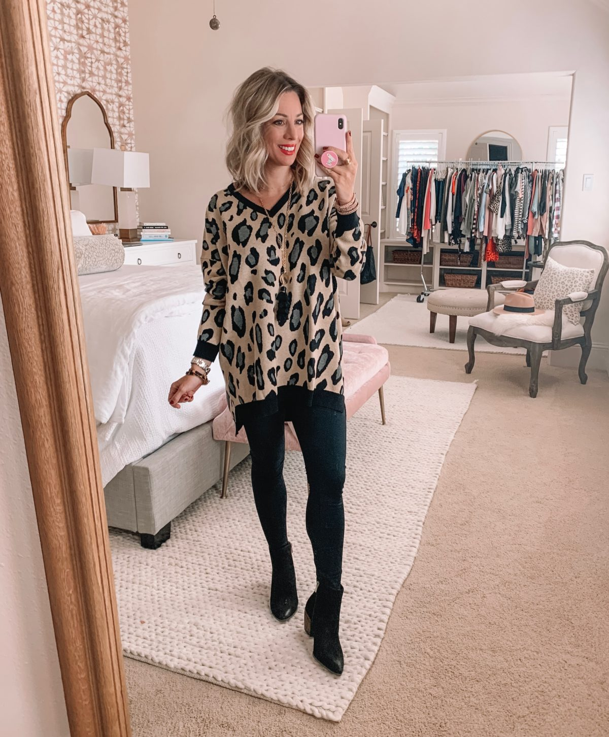 Amazon Prime Fashion- Leopard Sweater With Leggings