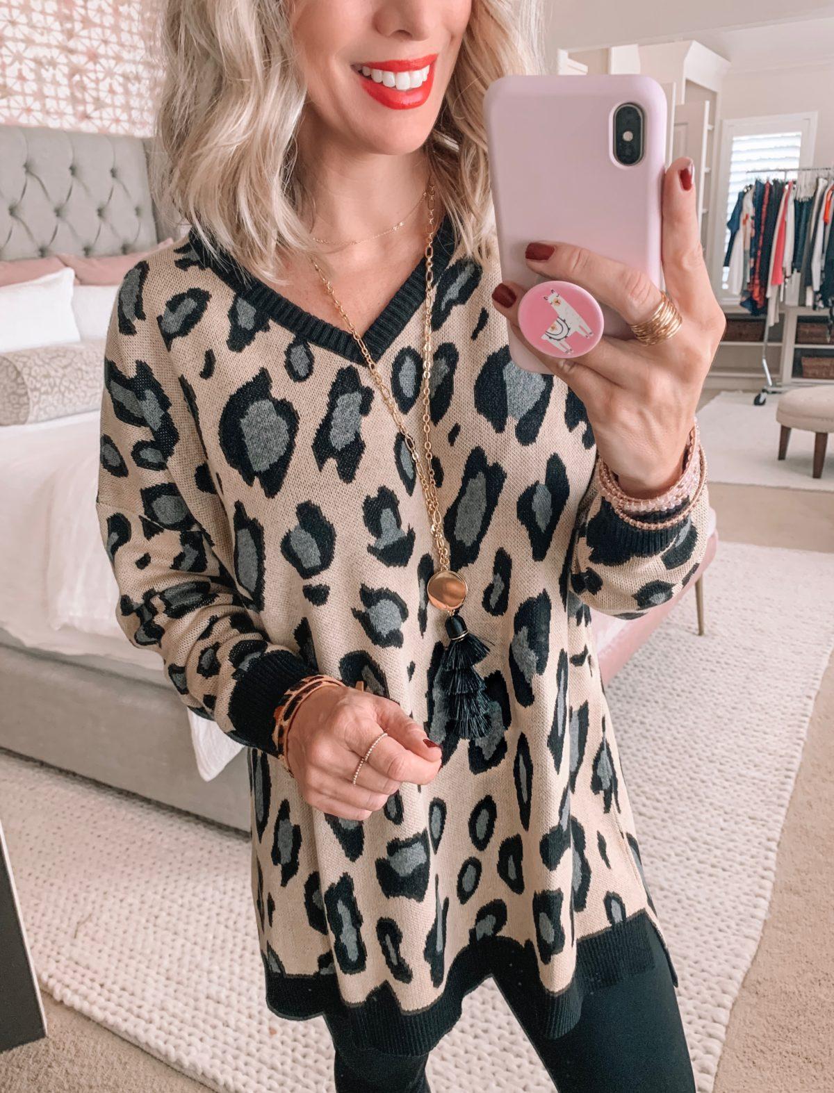 Amazon Prime Fashion- Leopard Sweater With Leggings