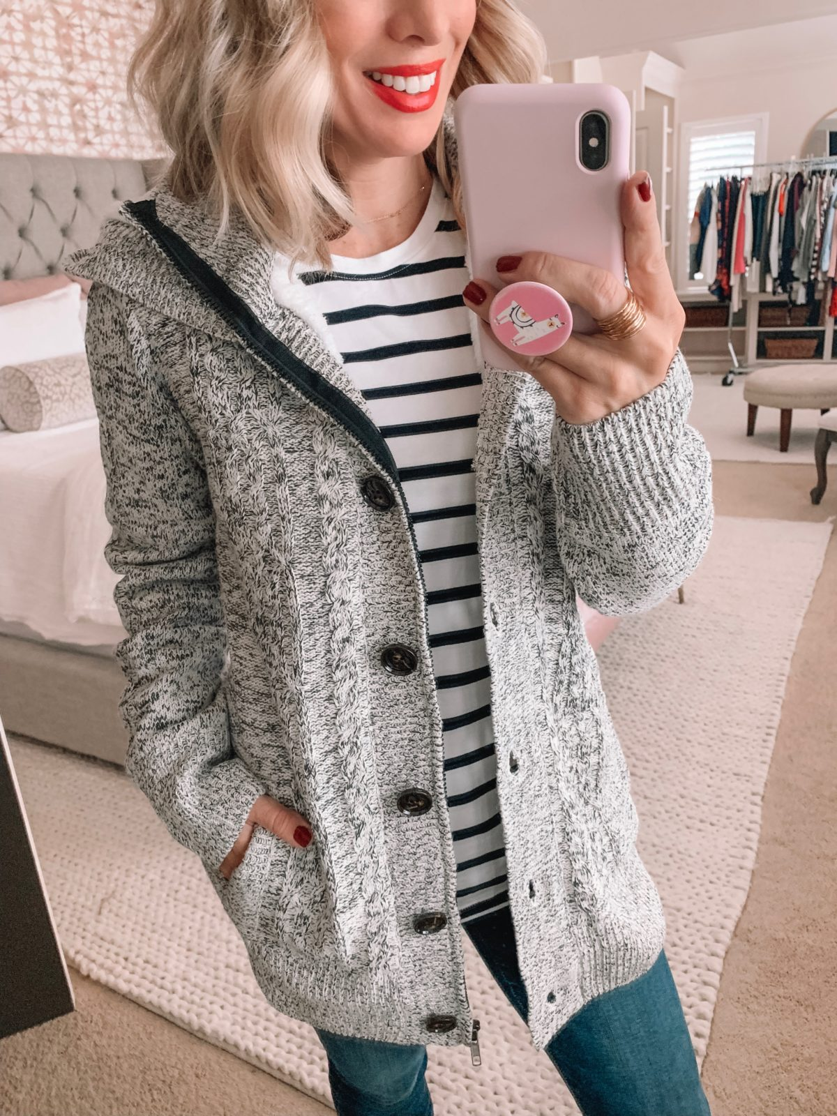 Amazon Prime Fashion- Striped Top and Coat