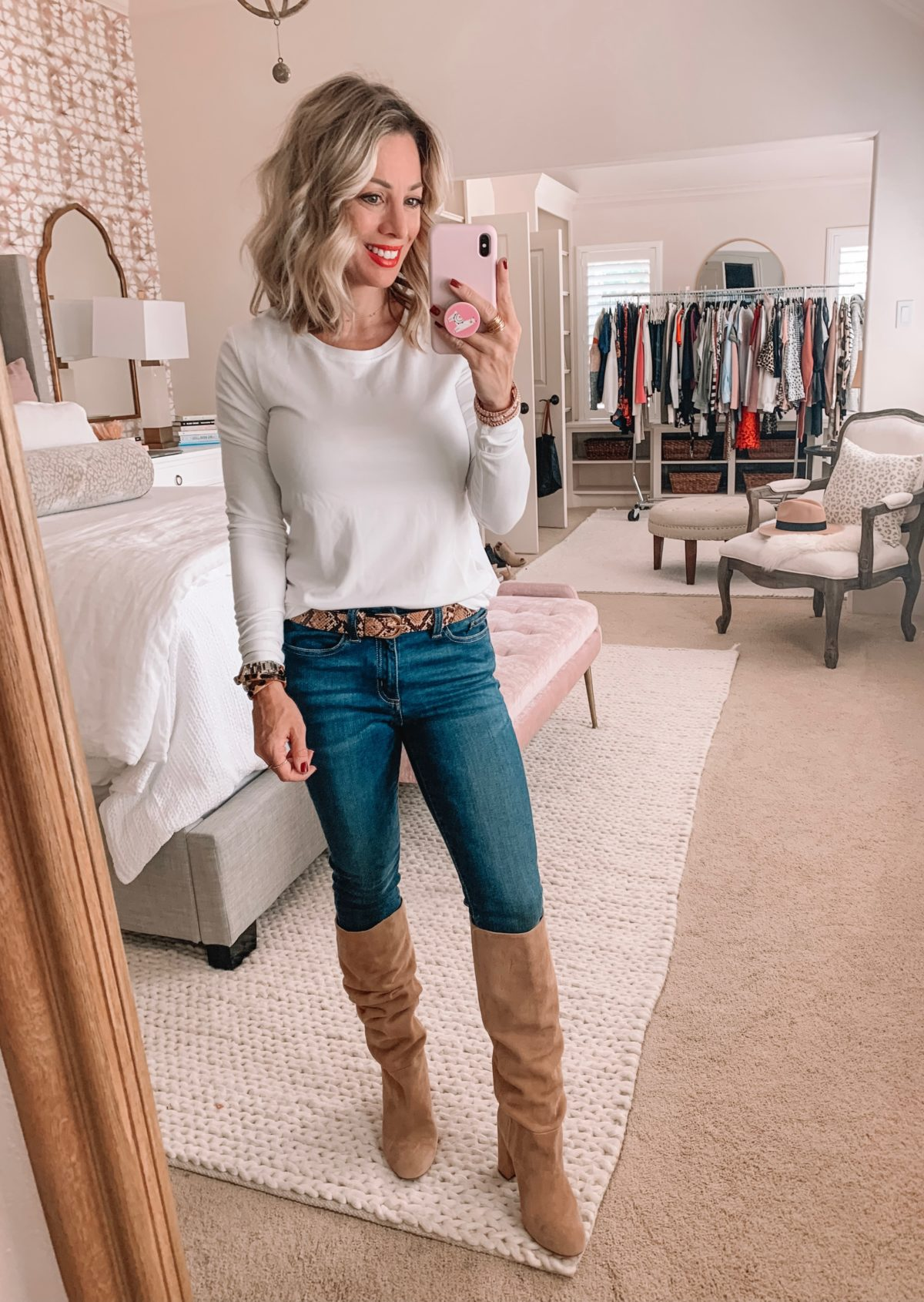 Amazon Prime Fashion- Long Sleeve Top and Jeans