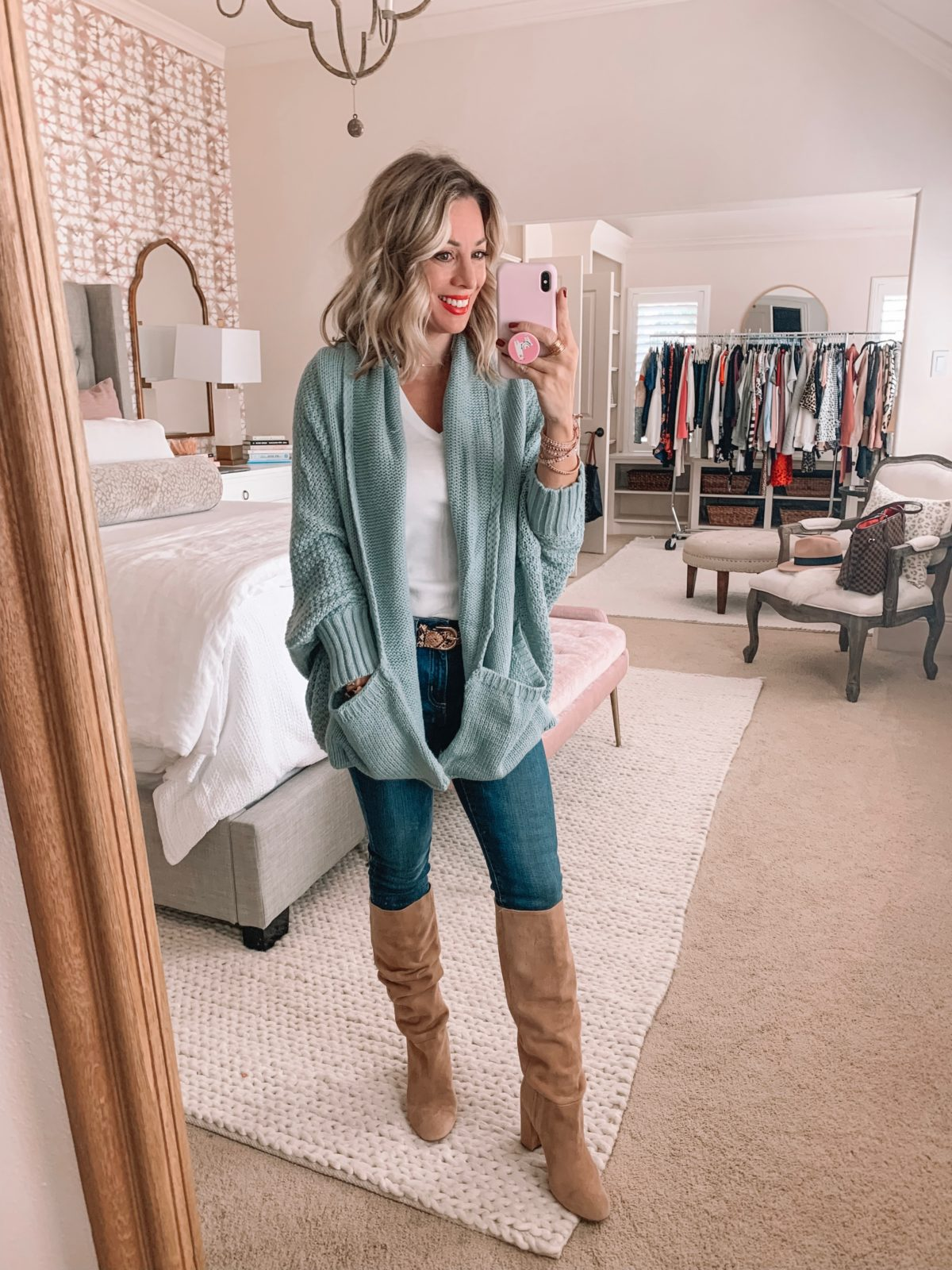 Amazon Prime Fashion- Chunky Cardigan and Jeans