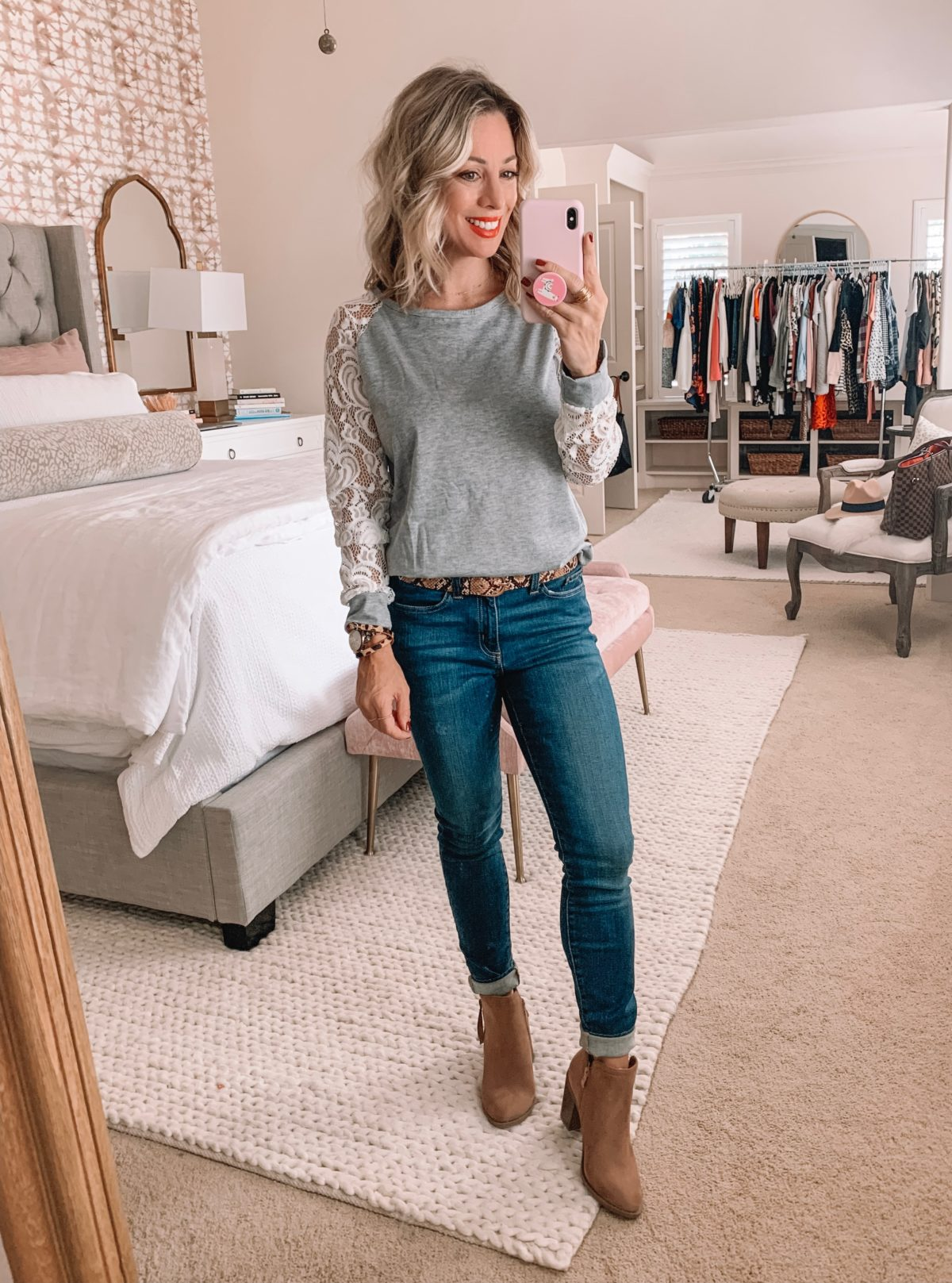 Amazon Prime Fashion- Grey Top and Jeans