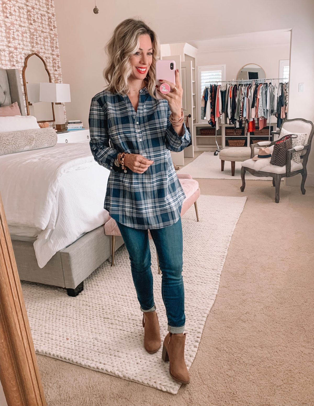 Amazon Prime Fashion- Plaid Top and Jeans