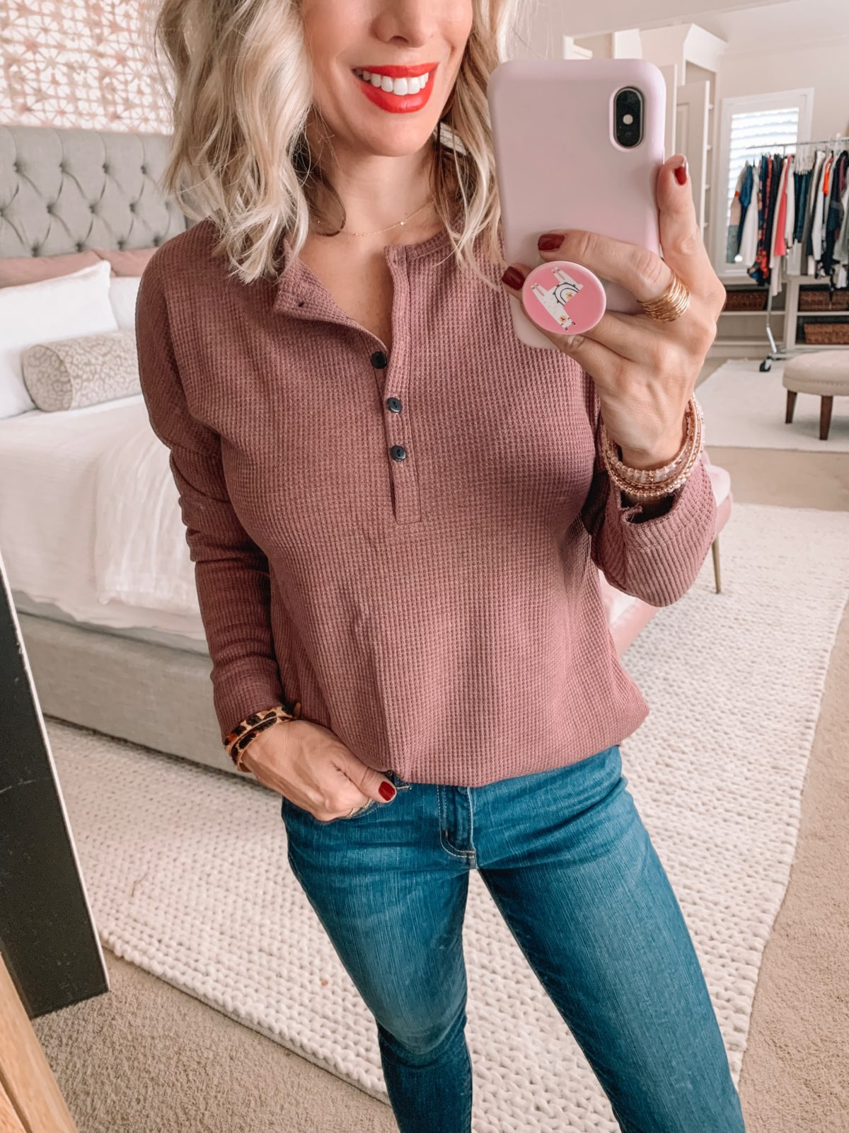 Amazon Prime Fashion- Henley Top and Jeans