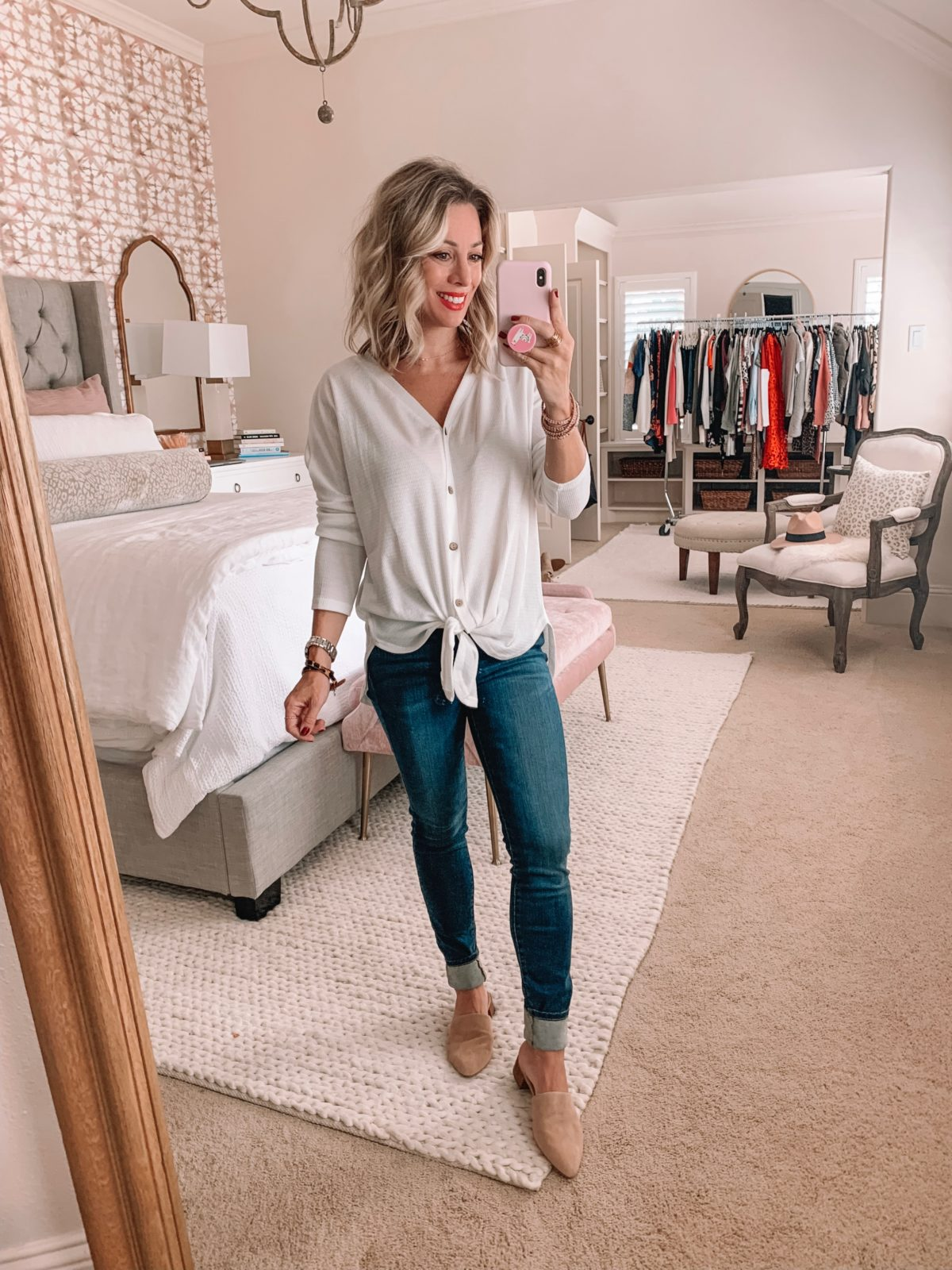 Amazon Prime Fashion- Tie Front Top and Jeans
