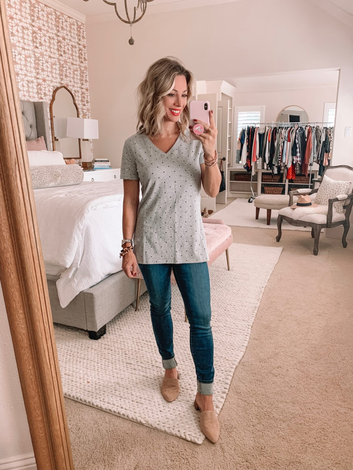 Amazon Prime Fashion- Heart Top and Jeans