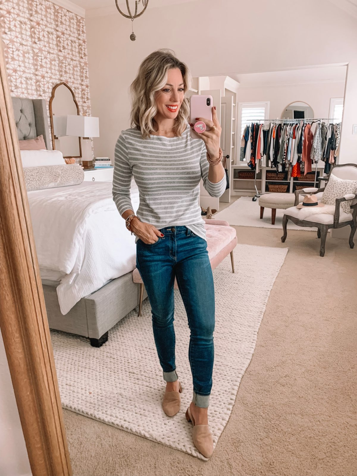 Amazon Prime Fashion- Striped Top and Jeans