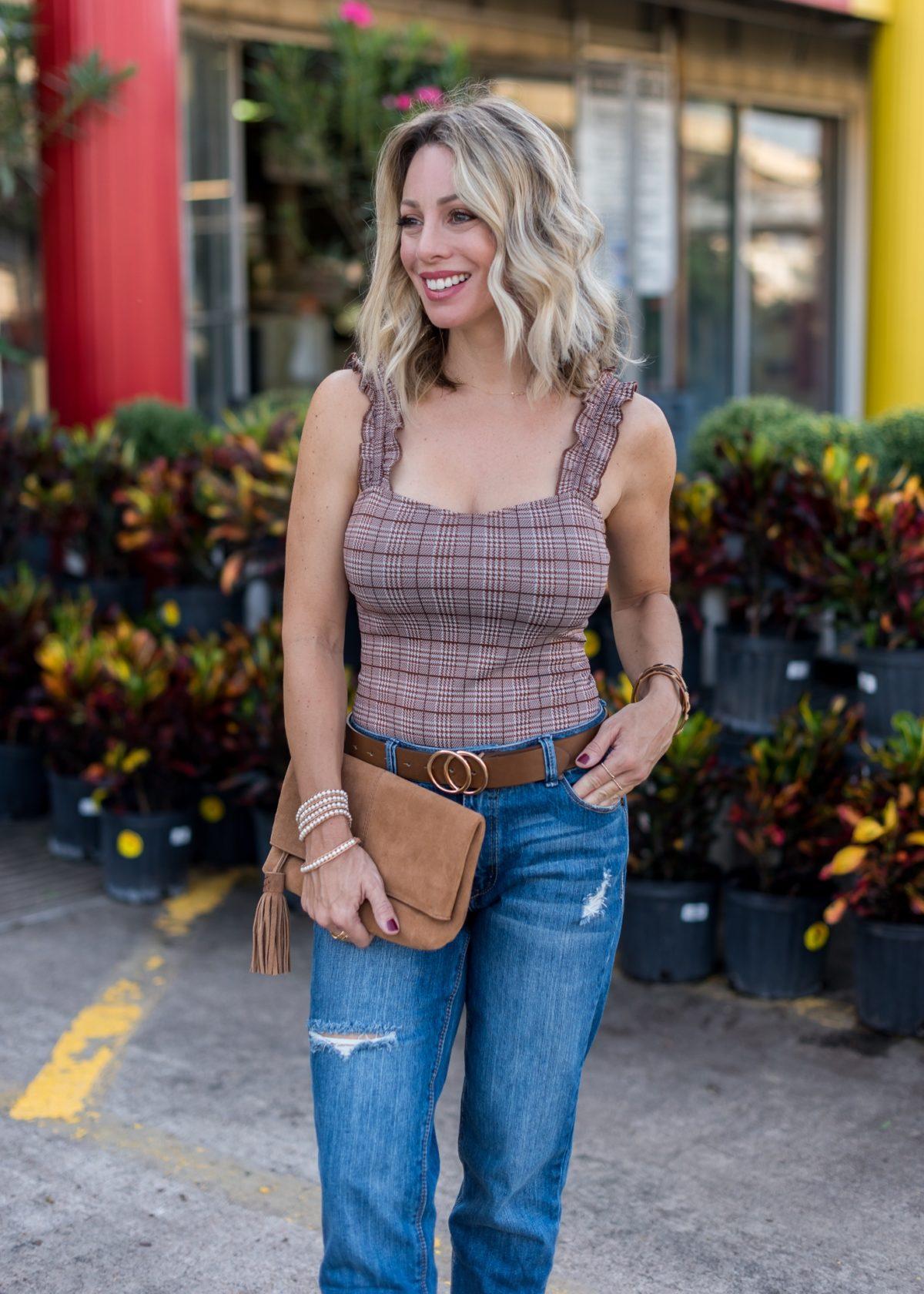 Nordstrom Rack-Bodysuit, Jeans and Booties