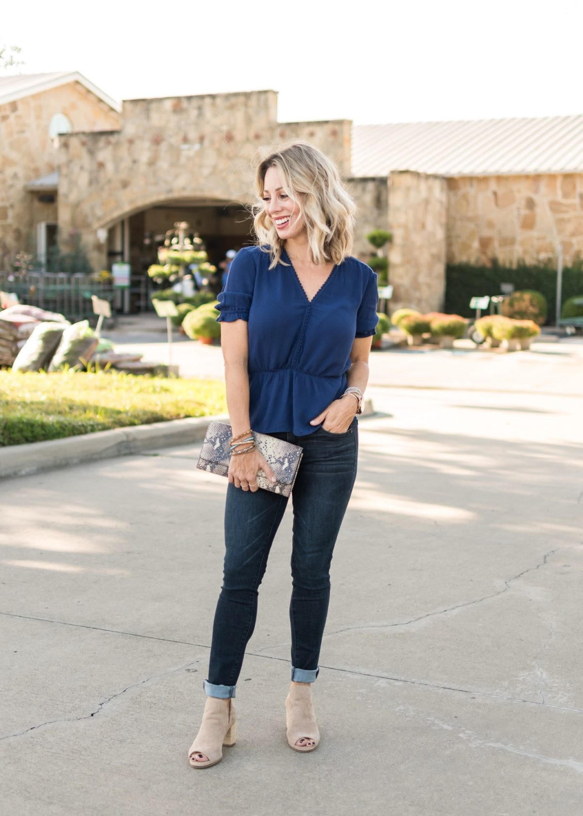 Nordstrom Top and Jeans