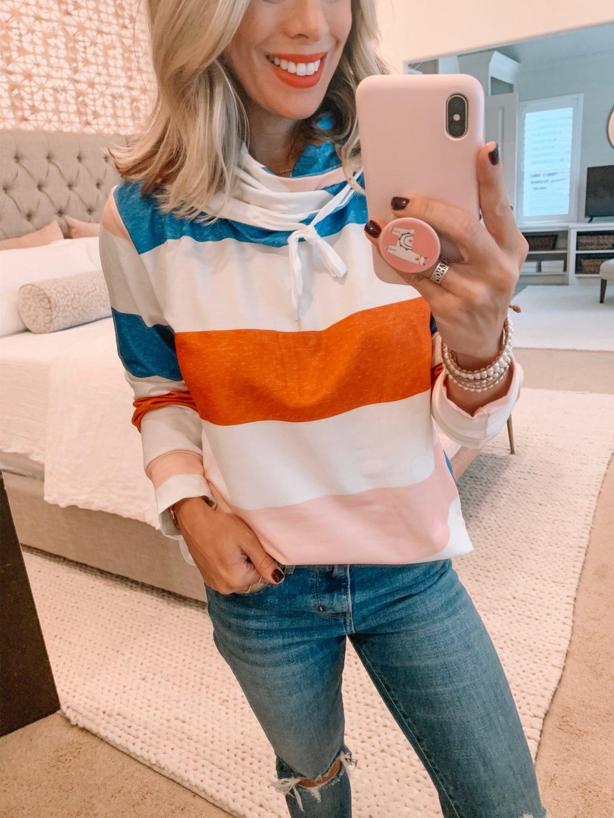 Amazon Striped Sweatshirt