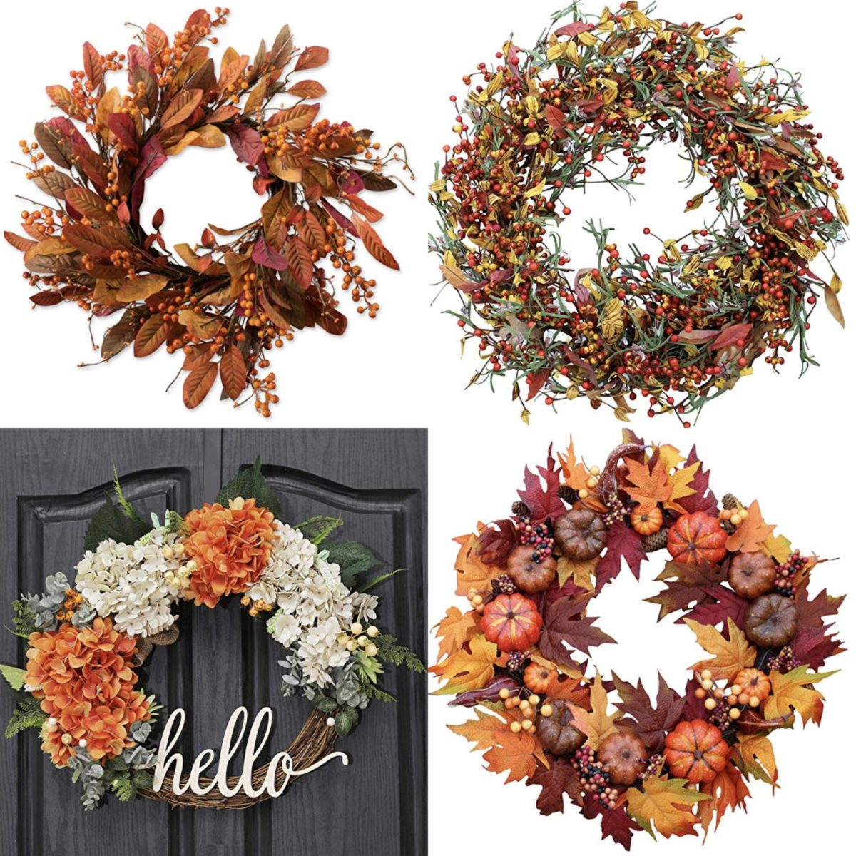 Fall Wreaths on Amazon PRIME