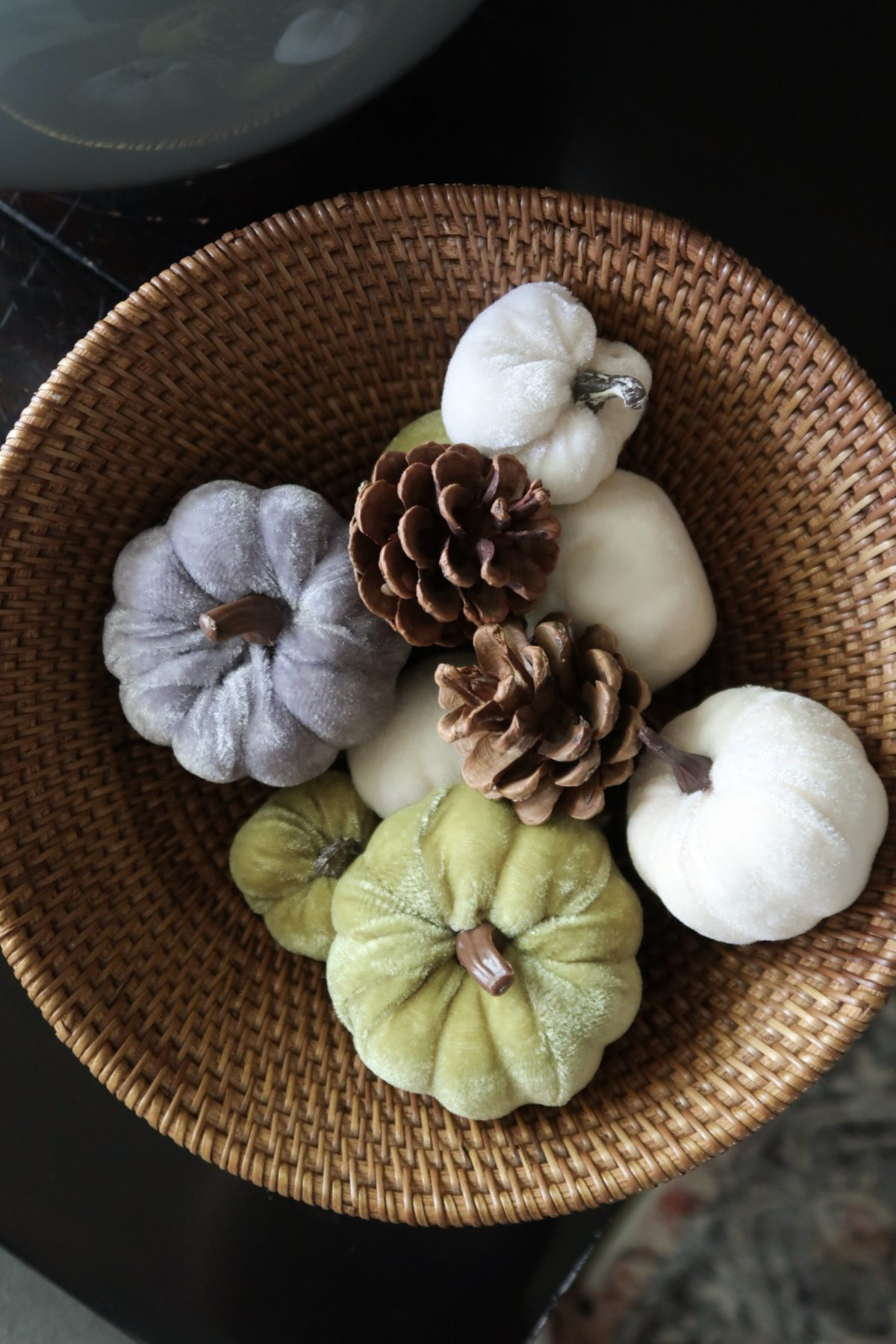 Home Decor Velvet Pumpkins