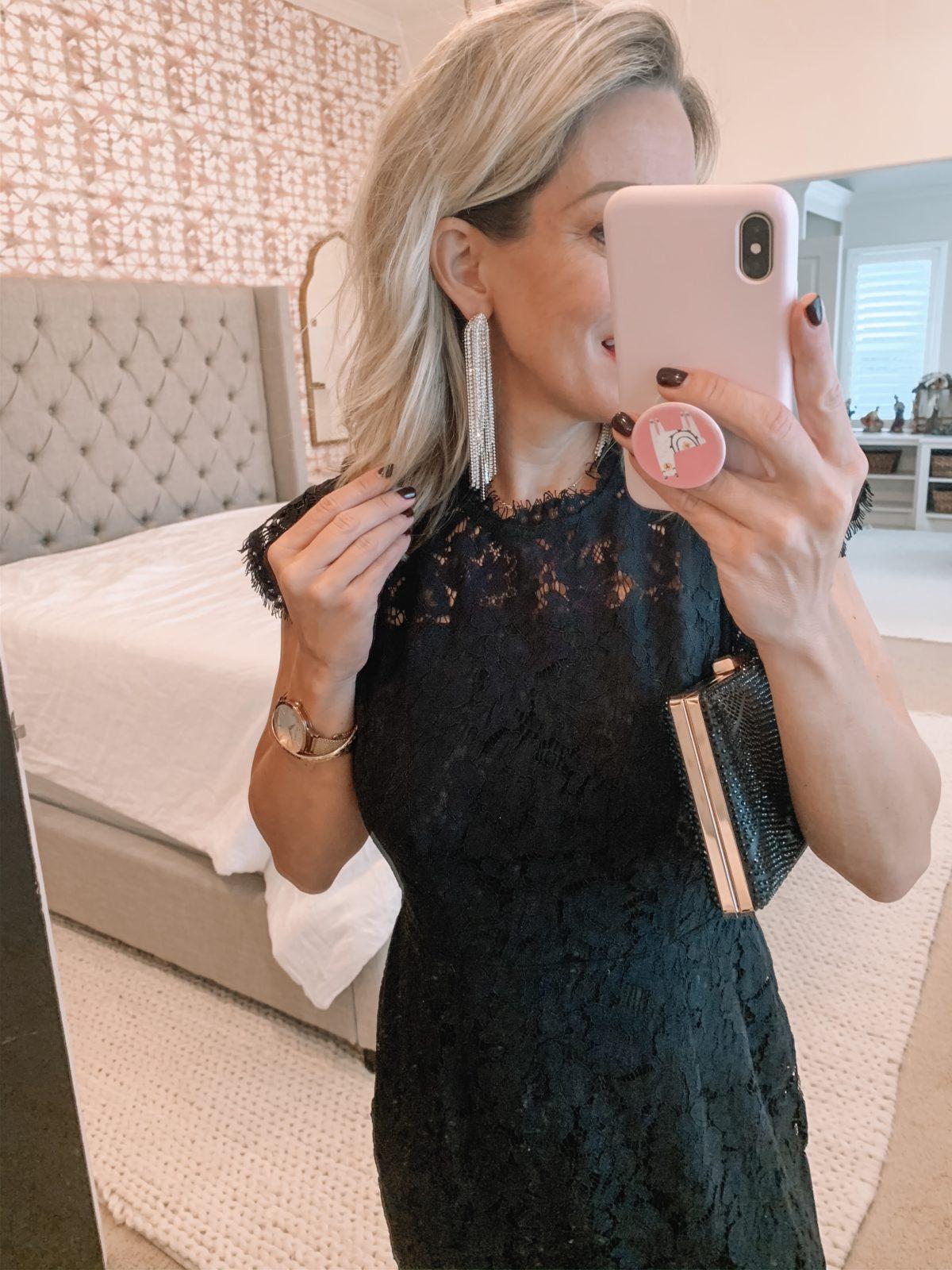 Amazon Dress and Earrings
