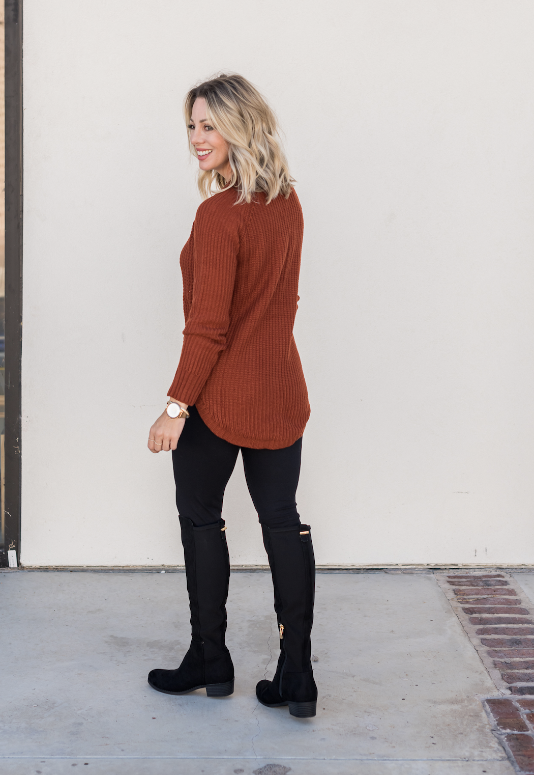 JCPenney Sweater, Leggings and Boots