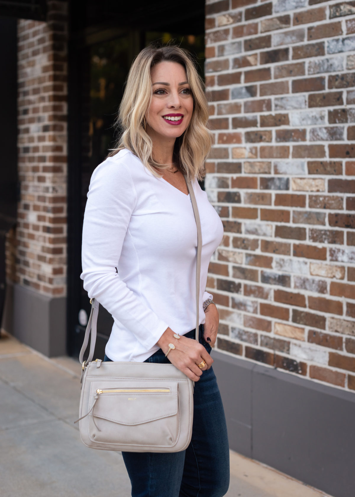 JC Penney Top, Jeans and Crossbody