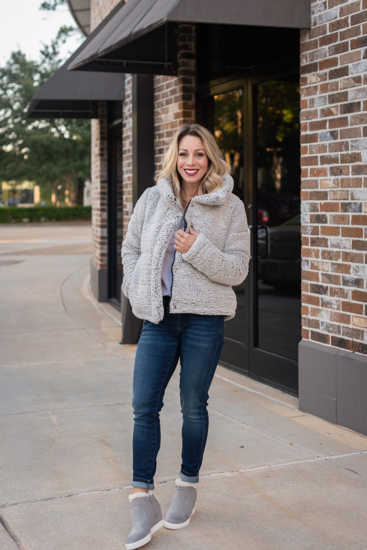 JC Penney Jacket and Jeans