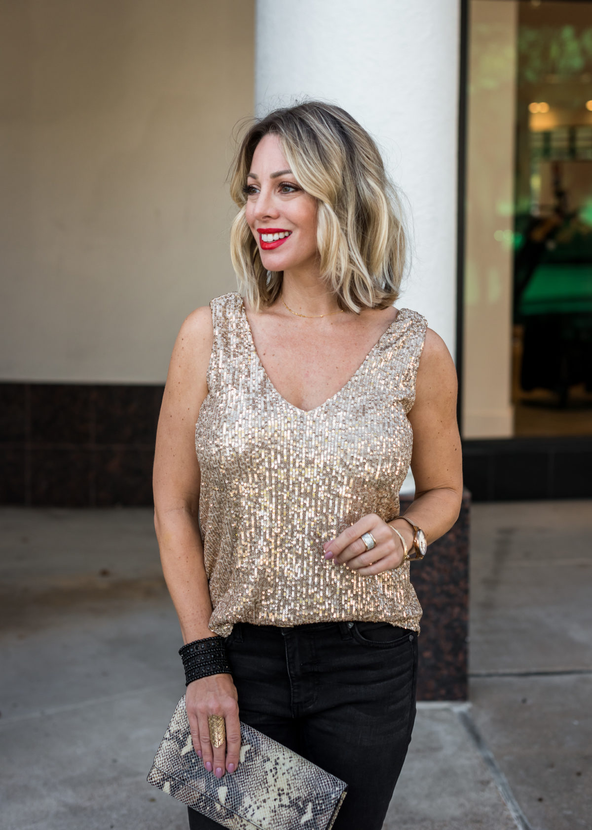 Nordstrom Tank and Jeans