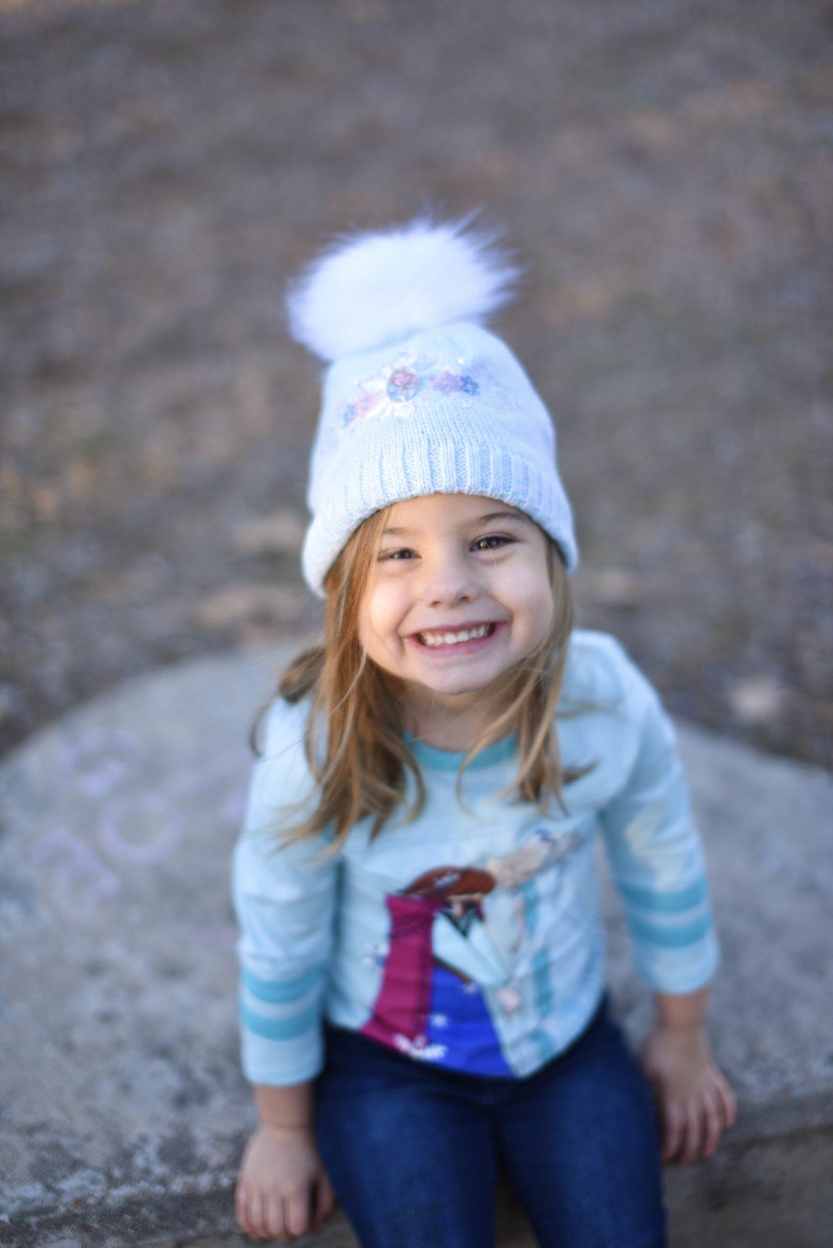 Frozen beanie for girls