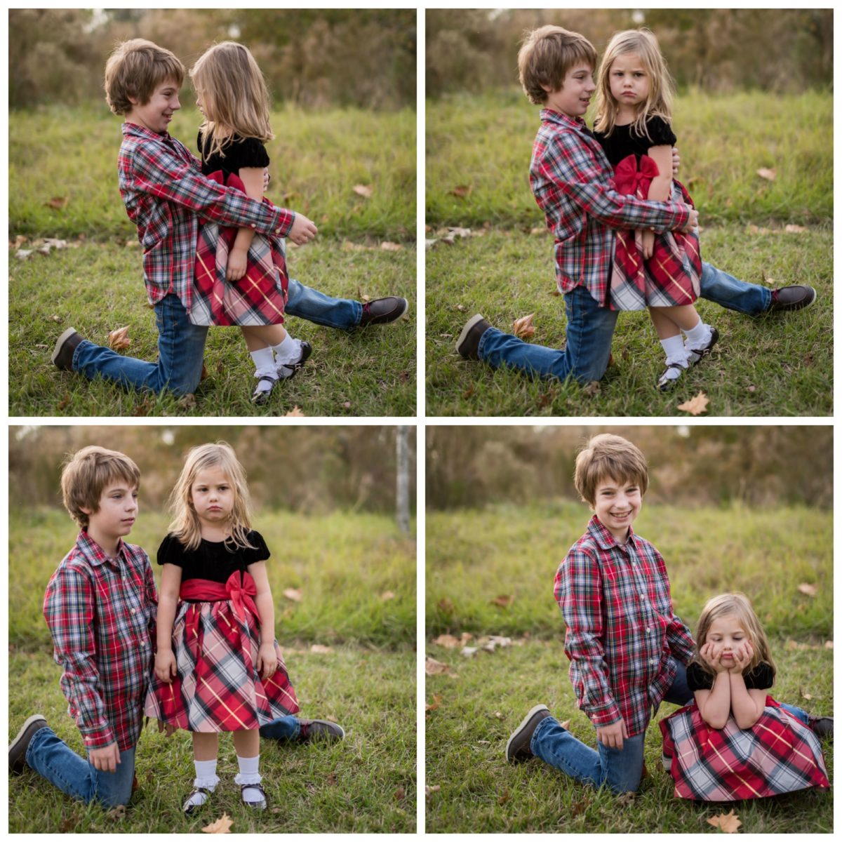 kids Christmas photos bloopers