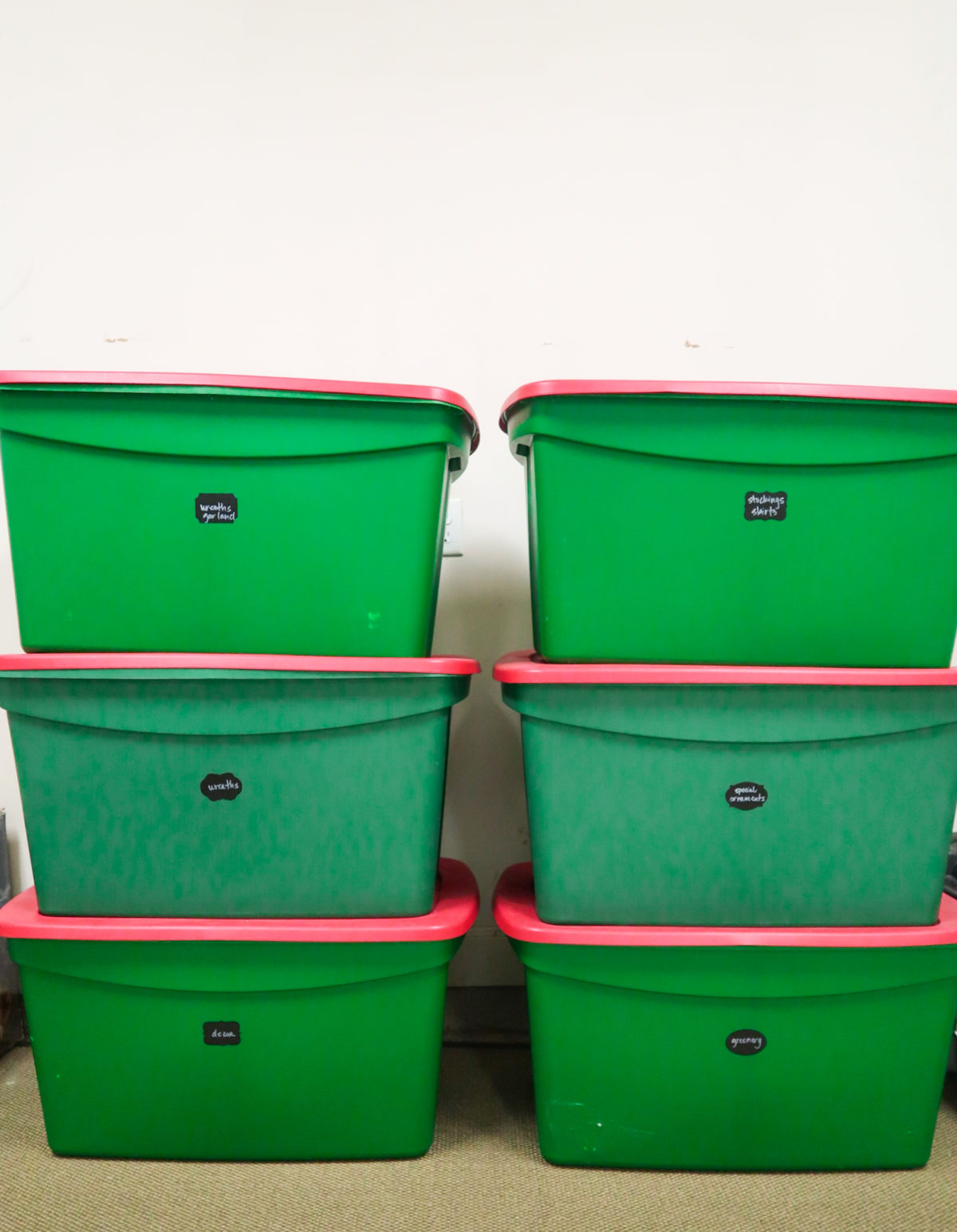 Christmas Storage Bins