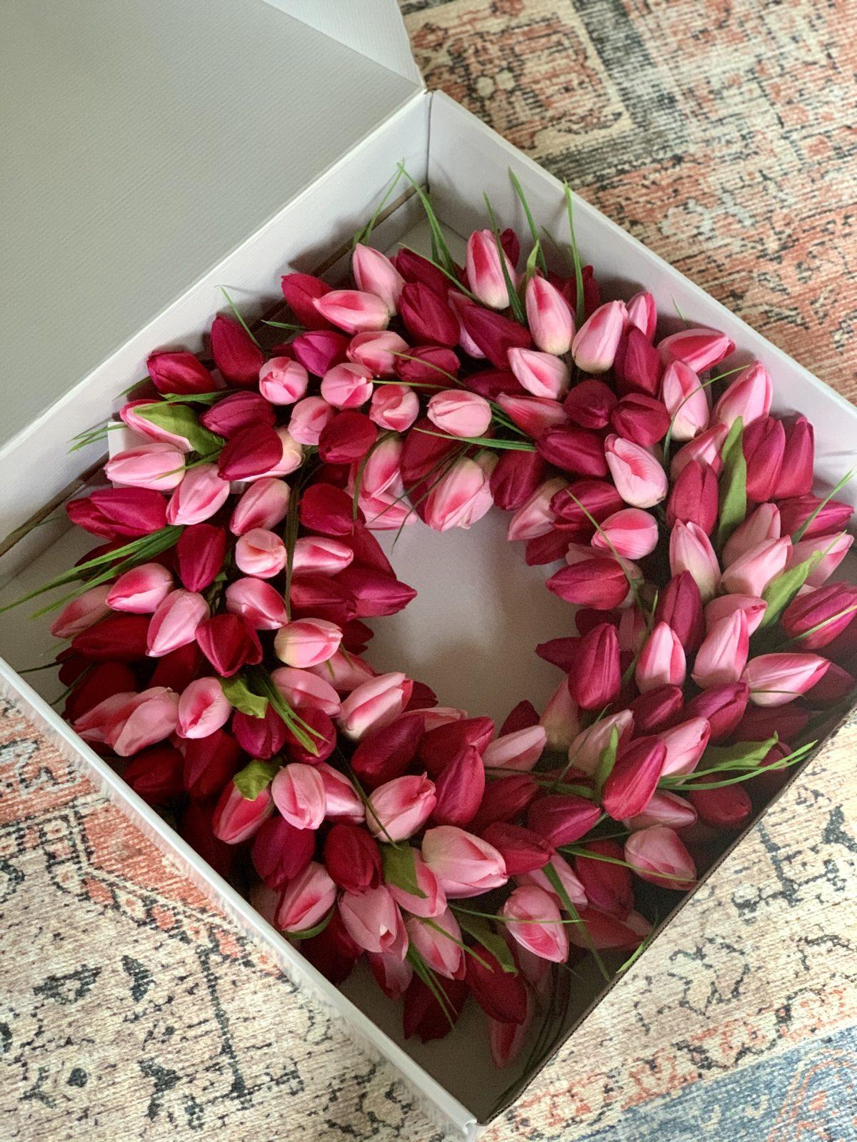 tulip wreath Amazon