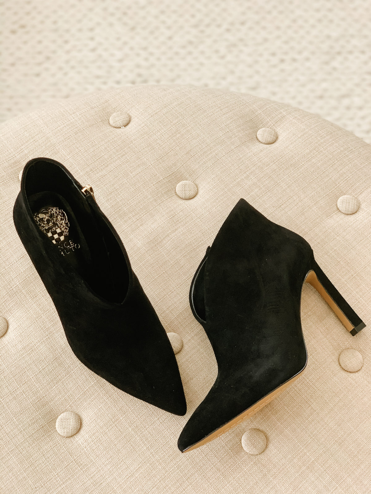 v-cut booties Vince Camuto