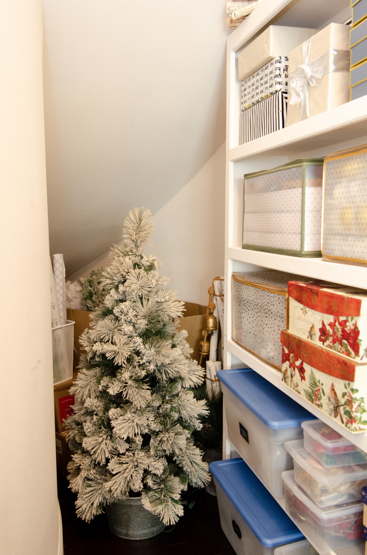 holiday closet Christmas storage