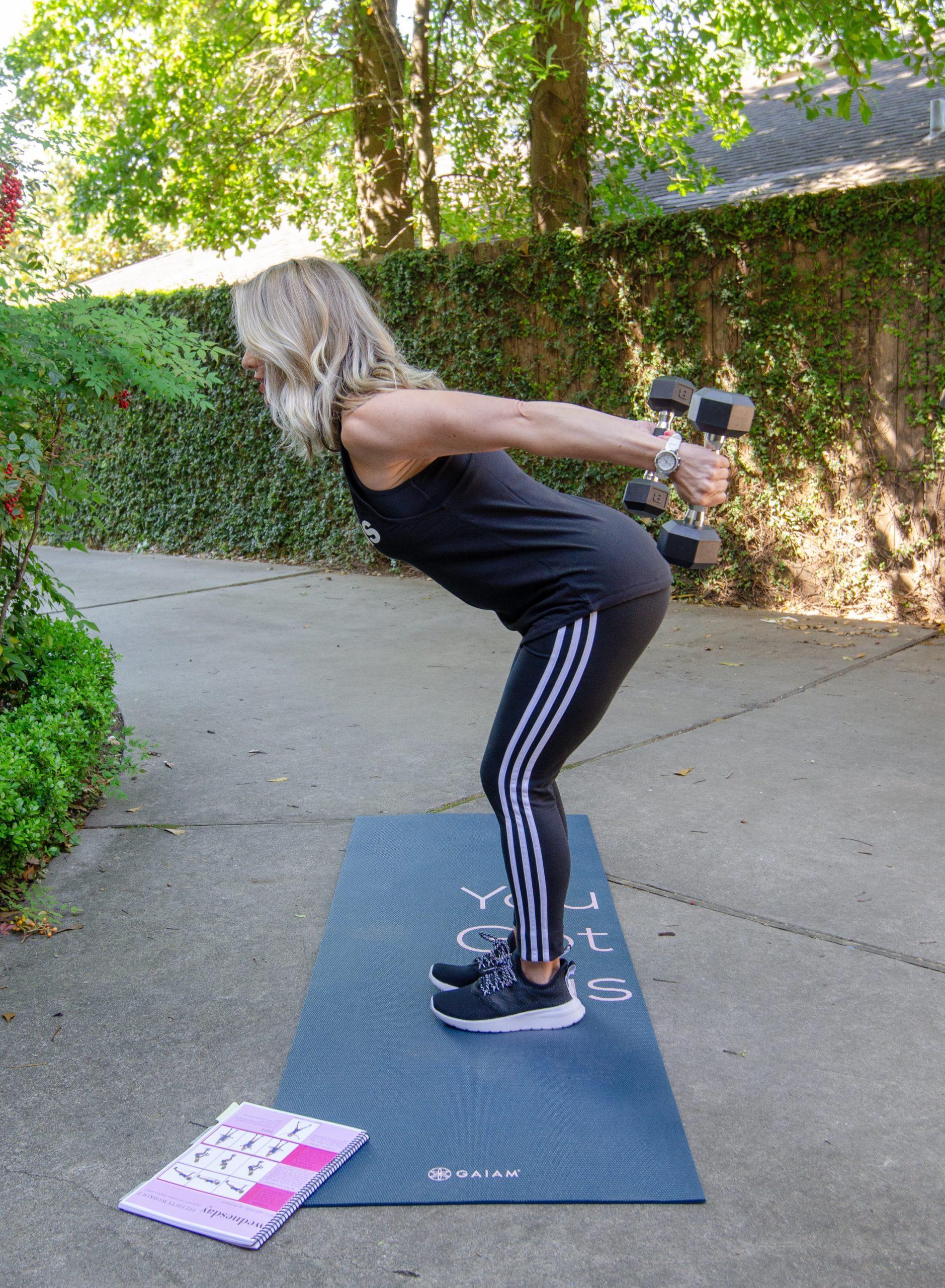Adidas Tank, Adidas Workout Pants, Yoga mat, Adidas Sneakers